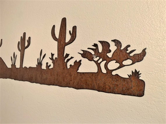Arizona wall art. Rustic desert scene. Cactus artwork. Sonoran desert. Tucson Decor. Phoenix artwork