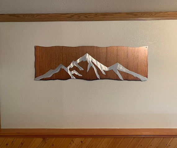 Pikes Peak Metal Wall Art. Colorado Springs artwork. Gift for hiker. Colorado 14er