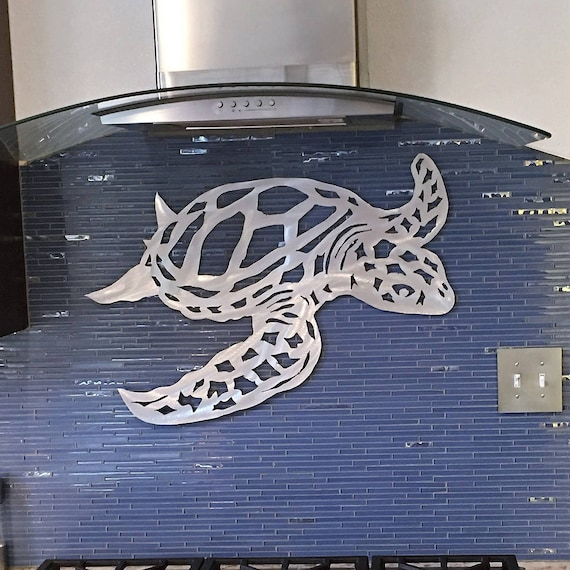 Metal Sea Turtle Art. Hawaiian decor. Beach House Artwork. Scuba diving gift. Florida Keys. Tropical