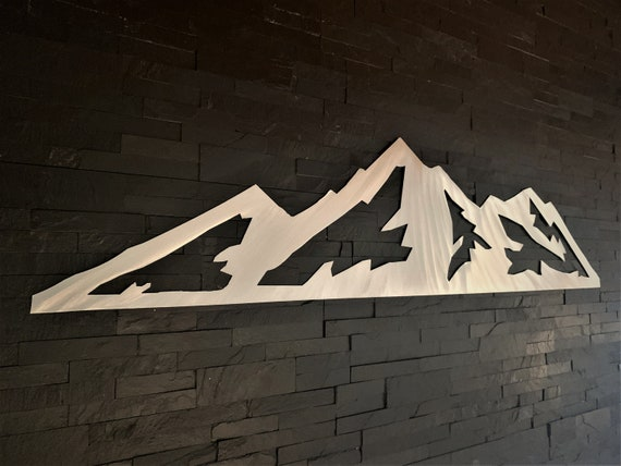 Jackson Hole Wyoming Ski Resort Metal Artwork Grand Teton National Park Skiing Snowboarding Hiking Mountains Camping Home Cabin Decor 3 Ft.