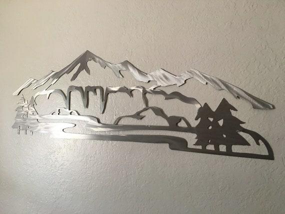 4 ft. Horsetooth Reservoir Metal Wall Art Mountains Fort Collins Colorado CSU Rams Colorado State University Fans Graduates Home Decor Art
