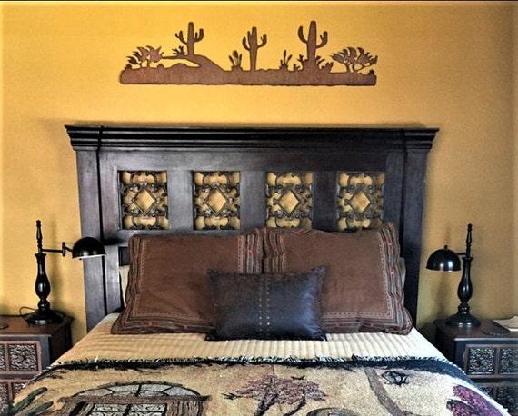 Arizona wall art. Rustic desert scene. Cactus artwork. Sonoran desert. Tucson Decor. Phoenix artwork