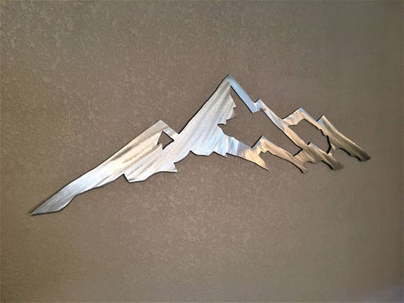 Mount Yale Colorado 14er. Metal Wall Art Mountain. Hiking Trail. Backpacking Nature lover Gift. 3 Ft.