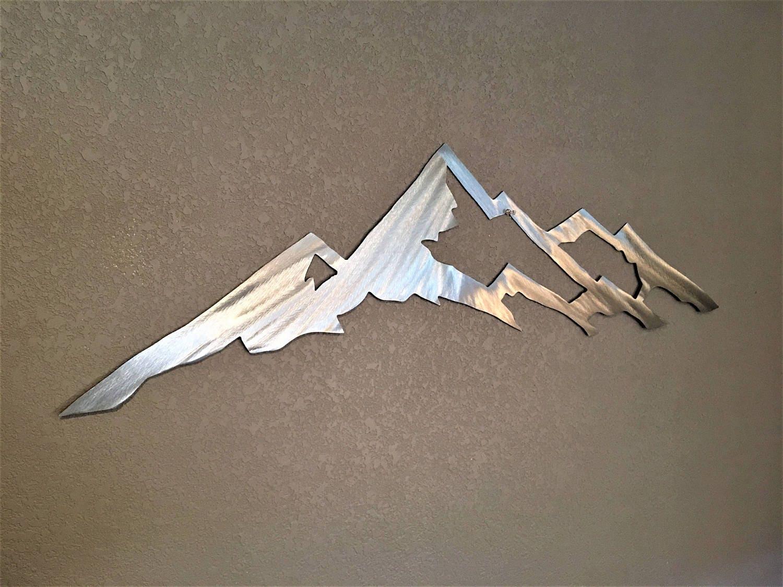 Wall Art Home Decor Modern Hanging Mount Yale Colorado 14er Metal Aluminum Sculpture 3ft