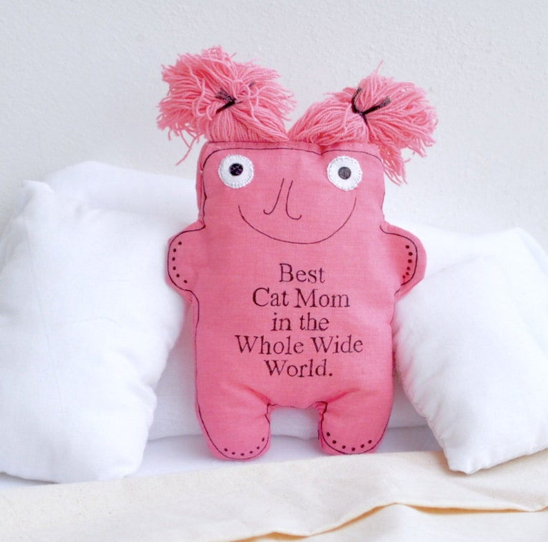 Pink-car accessory-for women-cat-travel buddy-cat pillow-cat office  plush-cat lover gift-quote-cushion-cute-cat mom- softie-cat lady-kitty