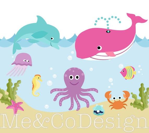 ocean clipart cute fun nautical sea beach boy and girl etsy rh etsy com ocean clipper race ocean clip-on can holder