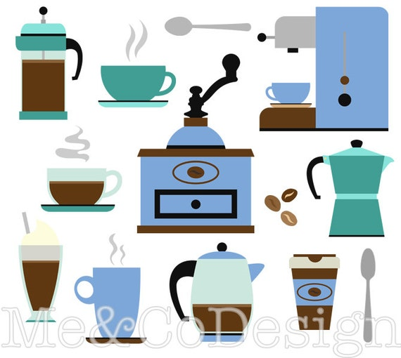 coffee clipart cafe clipart retro kitchen instant download etsy rh etsy com cafe clipart free cafe clipart royalty free