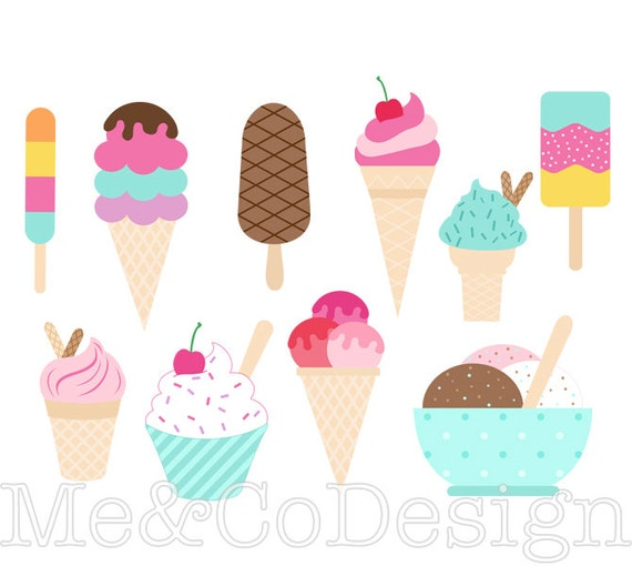 ice cream clipart clip art for scrapbooking party etsy rh etsy com etsy clip art floral etsy clipart of witches face for halloween