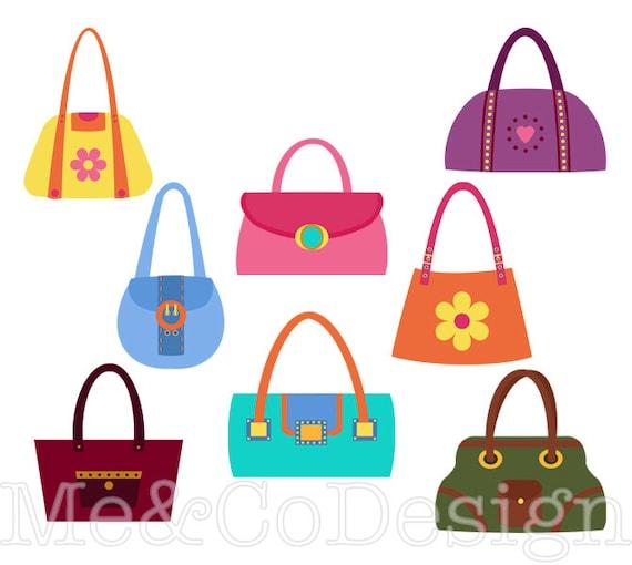 handbag clipart fun pretty clipart retro accessory clipart rh etsystudio com