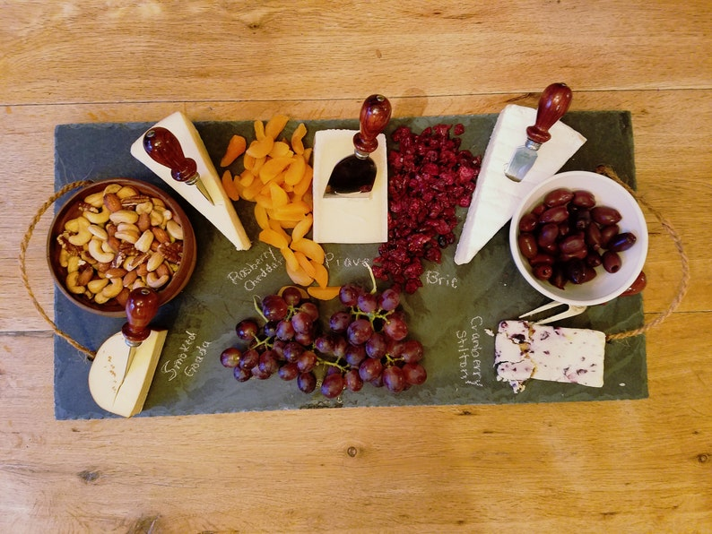 Large 12 x 24 Slate Cheese Board Serving Tray with image 0