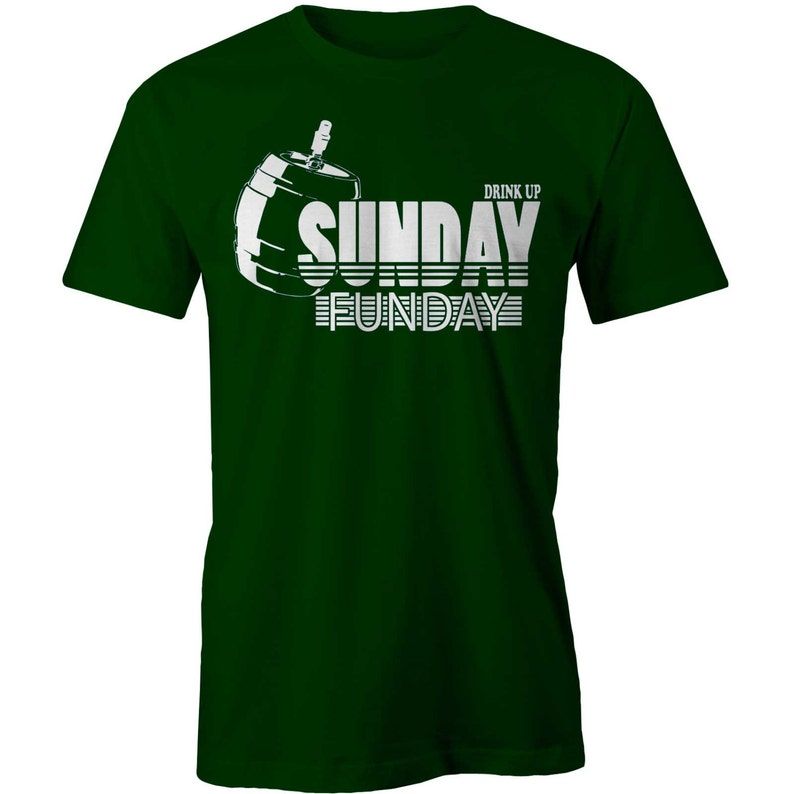 3c3c97be4 Sunday Funday T-shirt Drink Up Party Tee Drinking Beer | Etsy