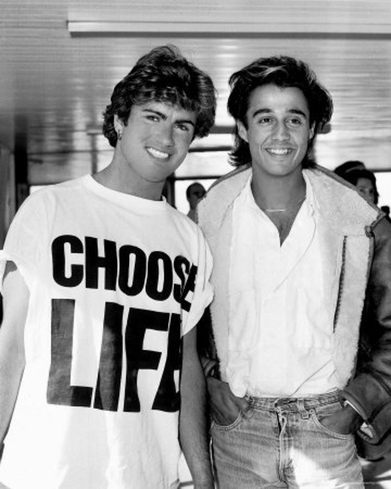 c5926b14 CHOOSE LIFE T-Shirt George Michael WHAM 80s Costume Party Re | Etsy