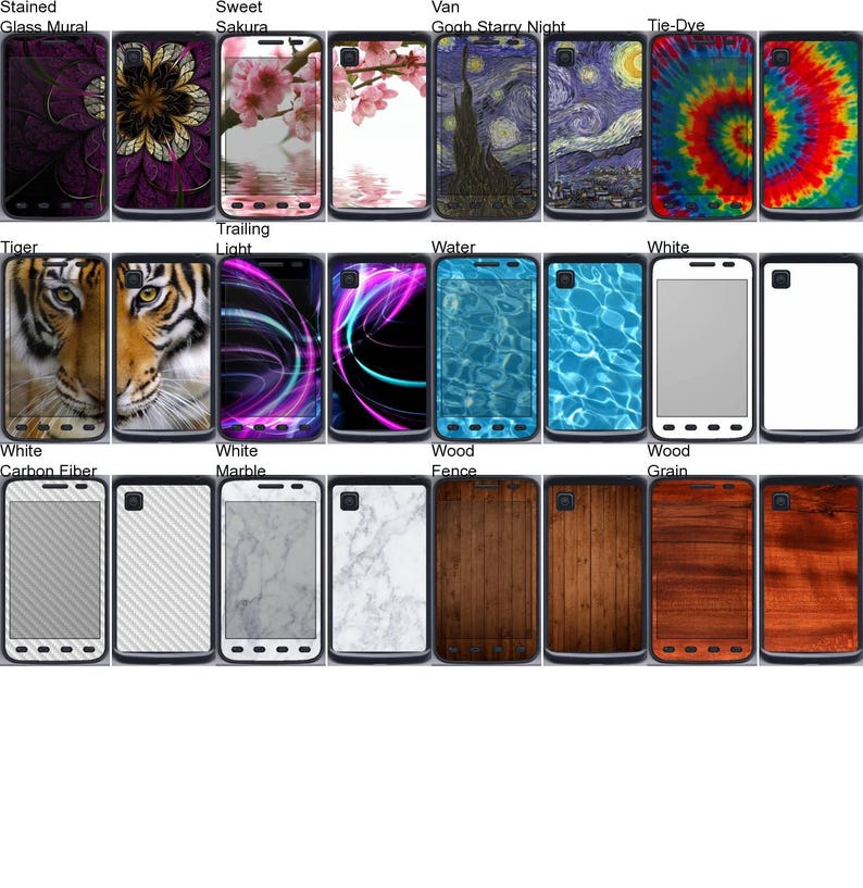 Android Smartphone Vinyl Skins  Decals  Stickers for LG Optimus Dynamic II Choose Any 2 Designs