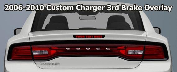 1 2006 2010 Custom Dodge Charger 3 Bremsleuchte überlagern Aufkleber Sticker Wählen Sie Aus 5 Schriftarten Viele Farben