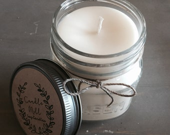 Apples & Bourbon 8 Oz. Soy Mason Jar Candle
