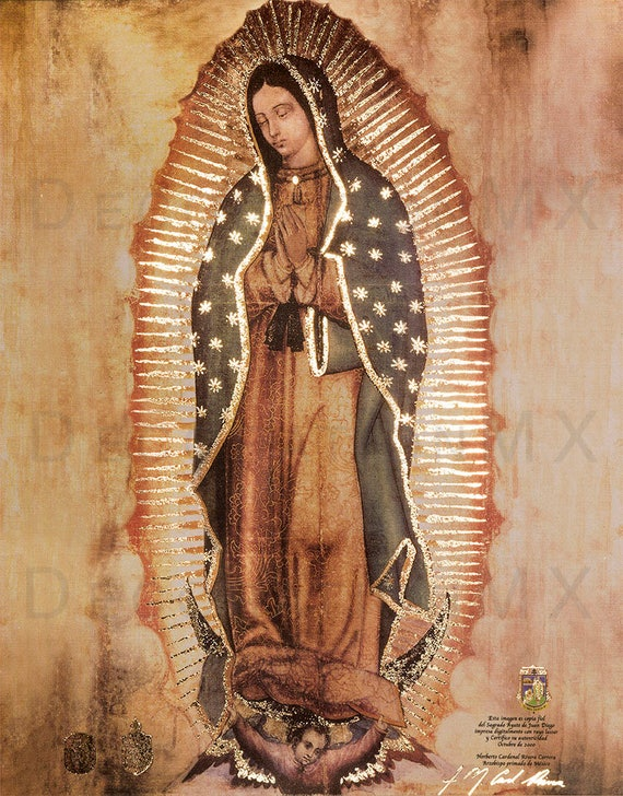 New Copy Of Original Of Our Lady Of Guadalupe Virgin Mary Etsy