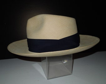 263c56fbc711dd Vintage Men's Custom Losby's Chicago Raja Genuine Ecuadorian Panama Hat  6-7/8