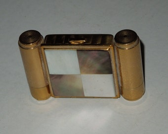 Vintage Magestic USA Mother of Pearl Checkerboard Compact