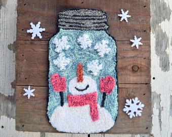 Snow Bottled Up Punch Needle Pattern & Fabric