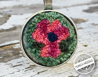 Springtime Pendant Punch Needle  *Limited Edition*