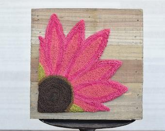 Echinacea Purpurea Punch Needle Pattern + Fabric