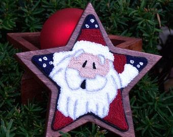 Super Star Santa Punch Needle Pattern & Fabric