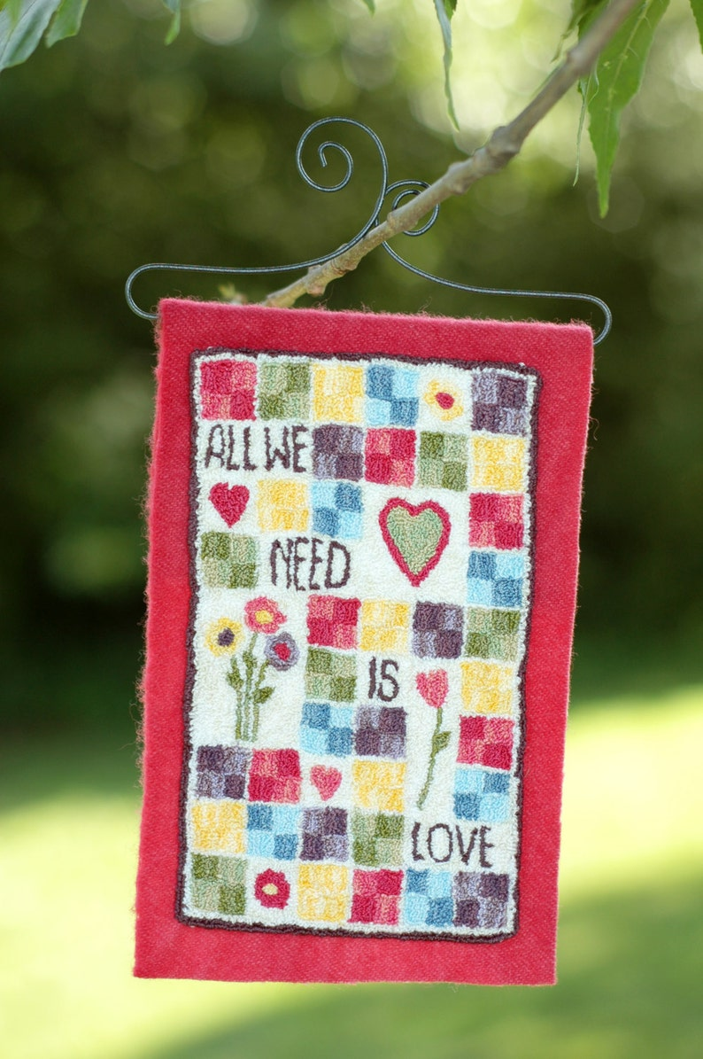 All We Need is Love Punch Needle Kit image 0