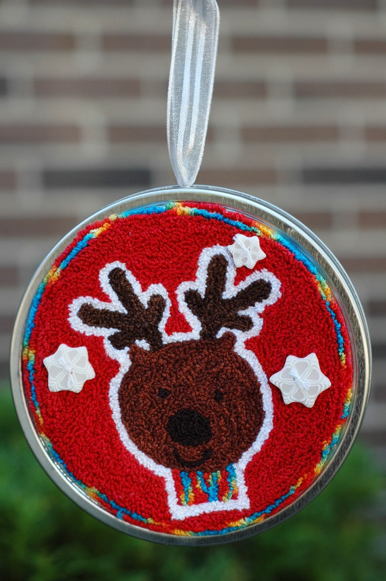 Tree Trimmers  Reindeer Punch Needle Kit image 0