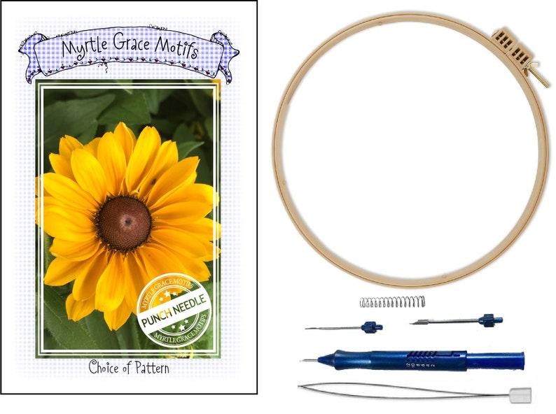Punch Needle Kit Ultra Punch Needle Locking Hoop Threader image 0