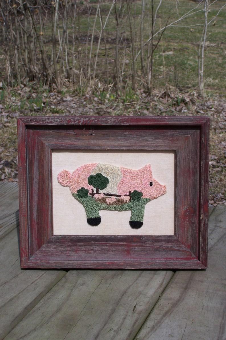 Oink Oink Pig Pen Punch Needle Kit image 0
