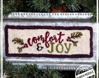 Comfort & Joy Punch Needle Pattern and Fabric