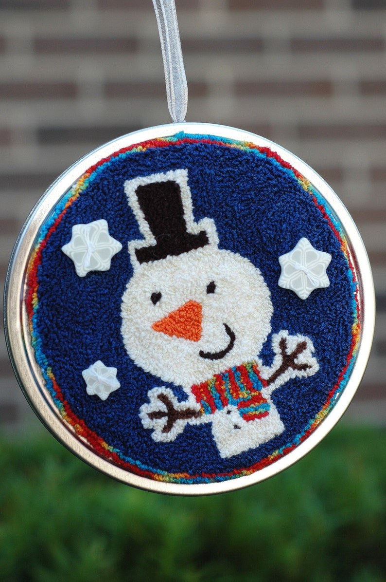 Tree Trimmers  Snowman Punch Needle Kit image 0