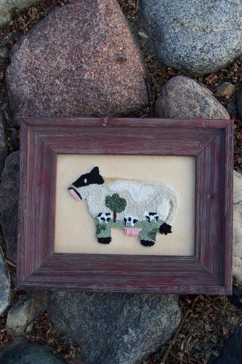 Moo Moo Field Cow Punch Needle Kit image 0