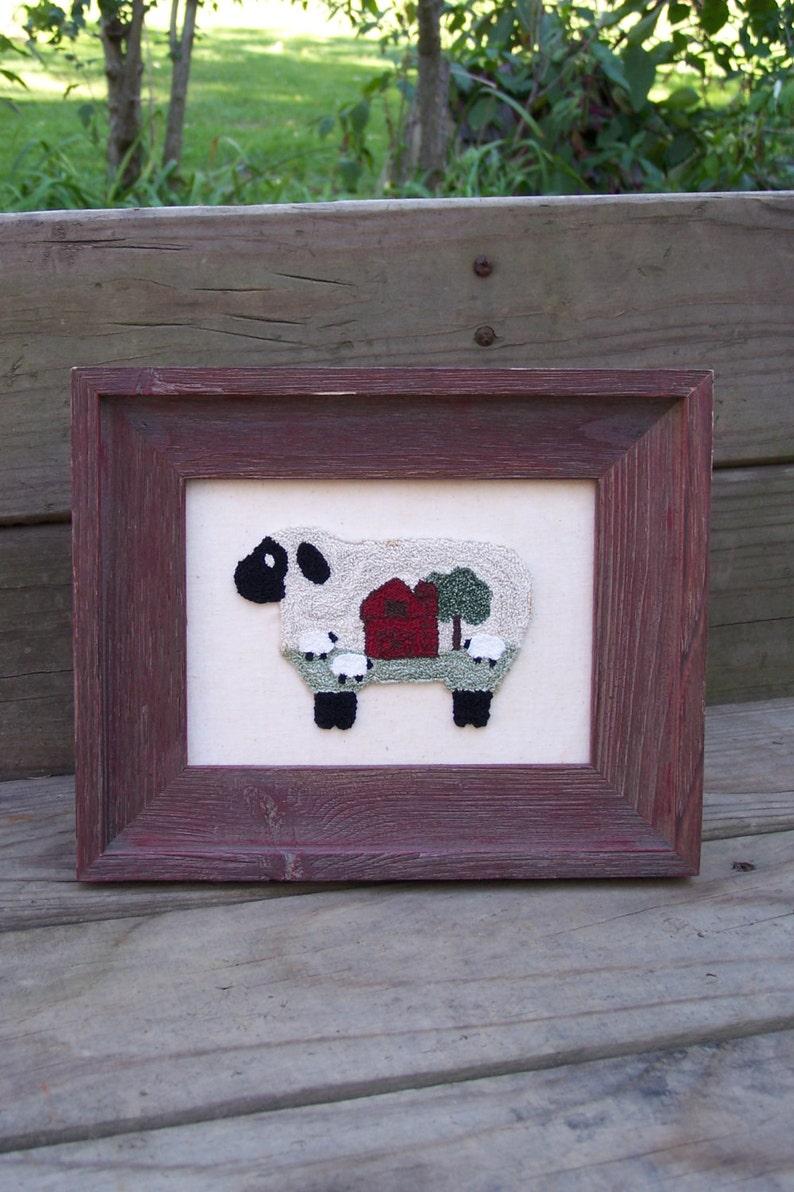 Baa Baa Barn Sheep Punch Needle Kit image 0