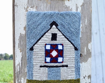 Heritage Barn Quilt Punch Needle Pattern & Fabric