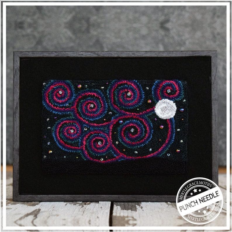 Moonlit Starry Sky Special Punch Needle Kit image 0