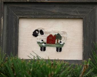 Baa Baa Barn Sheep Cross Stitch Pattern
