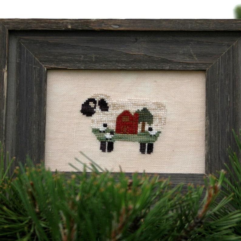 Baa Baa Barn Sheep Cross Stitch Pattern image 0