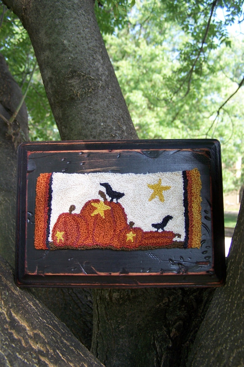 Fall in a Row Punch Needle Kit image 0