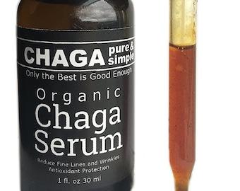 Organic Chaga Serum (1 oz) Organic Argan, Organic Jojoba, Organic Rosehip, Organic Chaga - Cold Pressed - Oil For Face, Nails, Hair, Skin