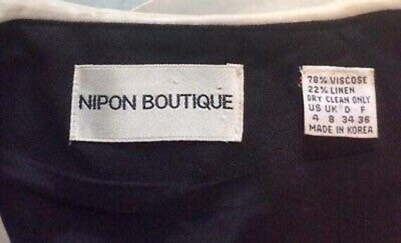 Albert Nipon Vintage Dress - BlackIvory Color-blo… - image 10