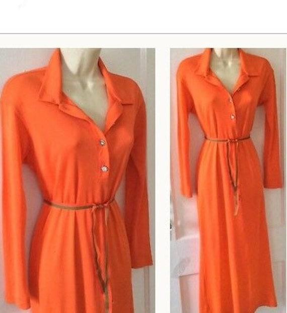 Todd Oldham Vintage Shirt-Dress - Tangerine Vintag
