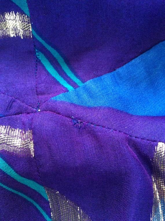 Pauline Trigere Vintage Dress - Purple/Blue/Gold … - image 10