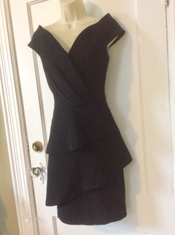 Arnold Scaasi Little-Black-Dress - Off-Shoulder 1… - image 2