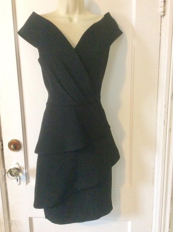 Arnold Scaasi Little-Black-Dress - Off-Shoulder 1… - image 3