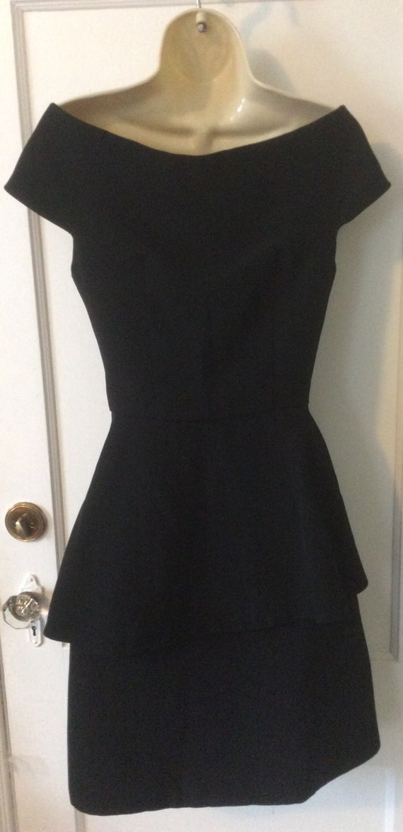 Arnold Scaasi Little-Black-Dress - Off-Shoulder 1… - image 8