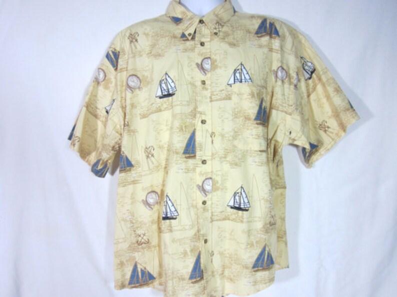 5bb6ce55 Fishing Shirt Deep Sea Fish Mens Vintage Camp Puritan Short | Etsy