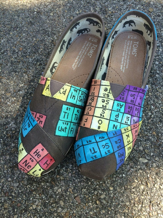Periodic Table Shoes Etsy