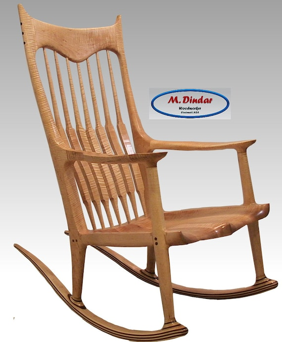 Brilliant Maple Curly Rocking Chair Inzonedesignstudio Interior Chair Design Inzonedesignstudiocom