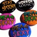bethany reviewed Spooky, I love Horror, Zombie, Dead Sexy, Pinback buttons